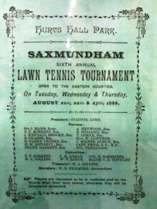 Sax Museum Lawn tennis Tounament programme