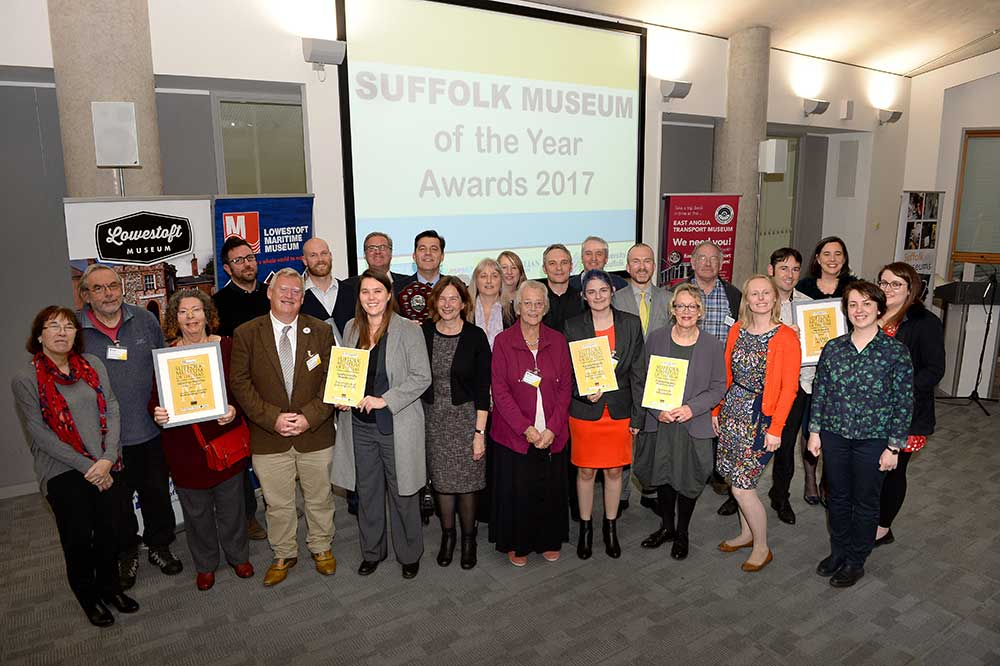 Winners of Suffolk Museum of the Year award 2017
