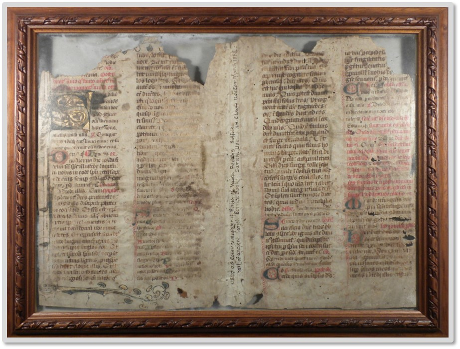 Weston Church Pre-reformation Missal pages